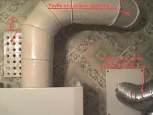 использование дымохода для вентиляции